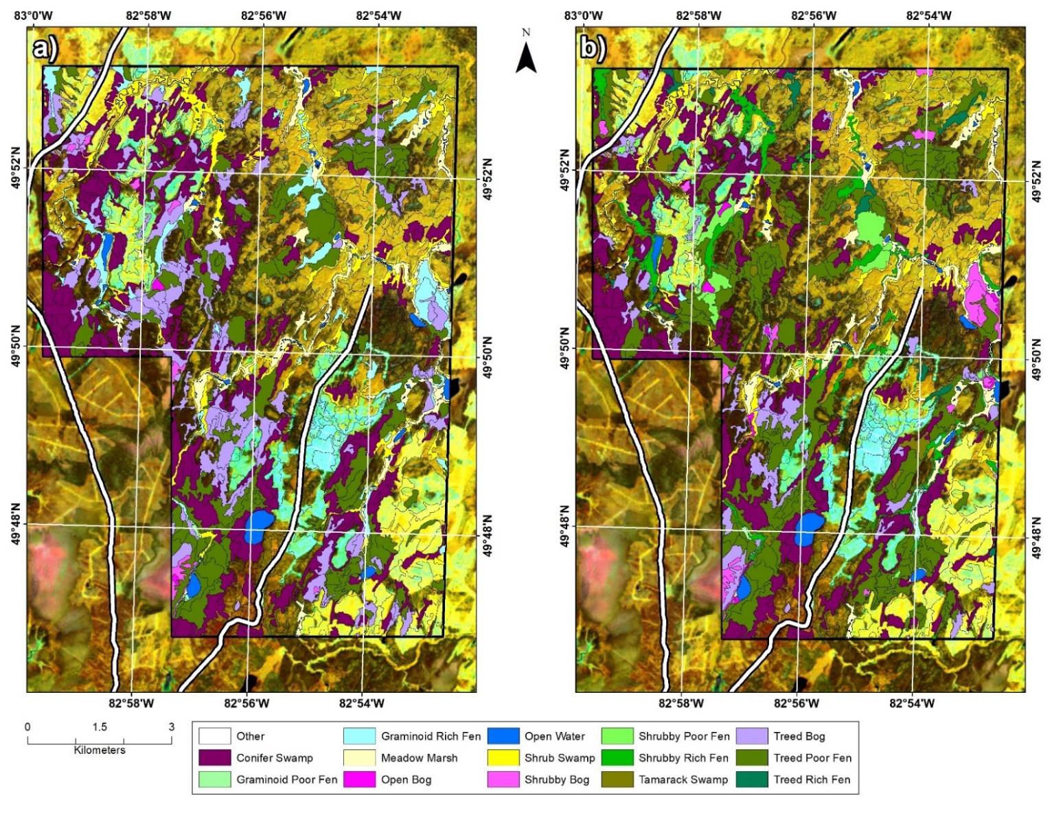 wetland mapping comparison